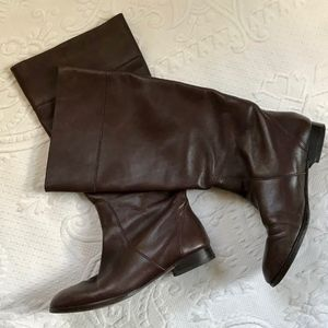 brown leather boots . J. Crew